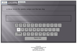 HTML5 Typing Tutor by Semicolon Developers